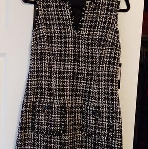 Black and white tweed dress. Tags on!